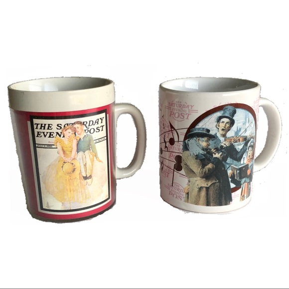 Vintage Other - Vintage Saturday Evening Post Norman Rockwell mugs